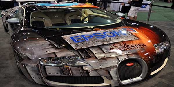 Epson SEMA Bugatti Top10 Vehicle Wraps