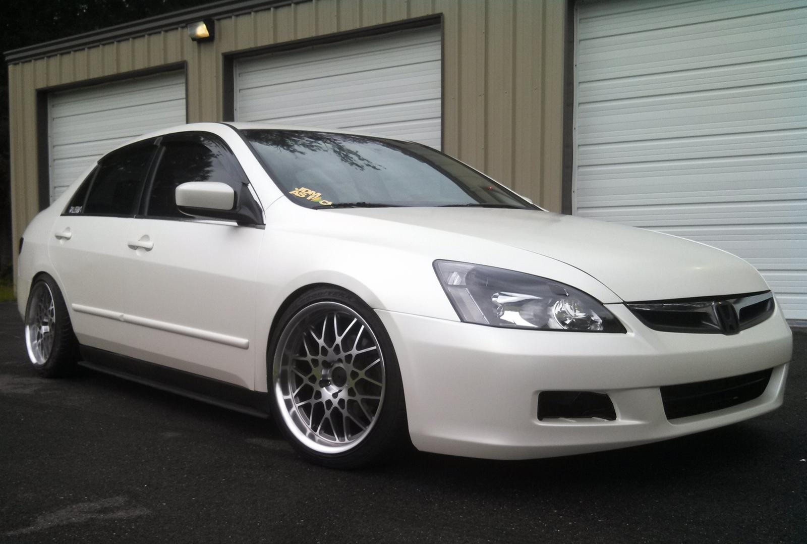 3m satin pearl white honda accord for Honda service white plains