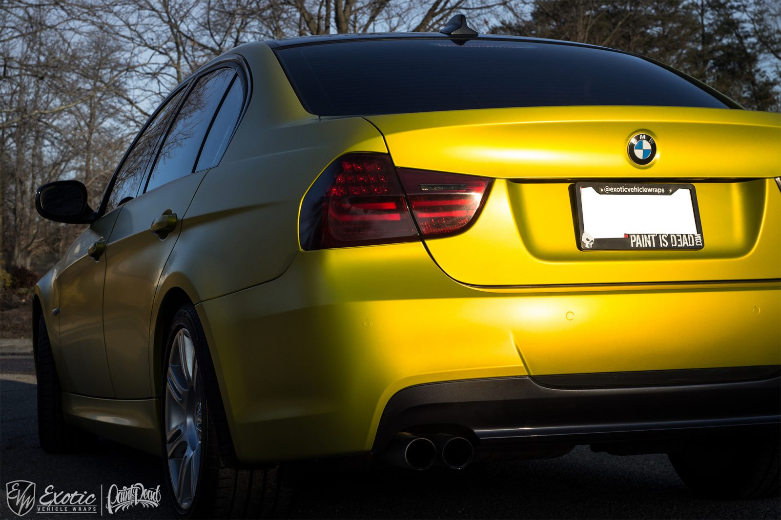 3m Satin Bitter Yellow Bmw Back Wm
