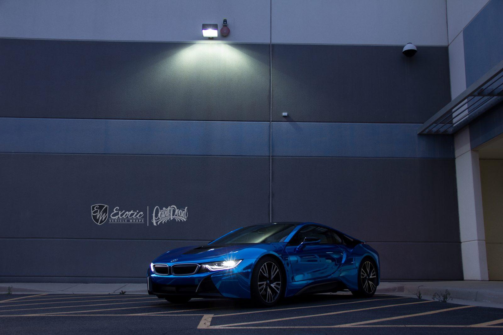 BMW I8 Hexis Blue Superchrome