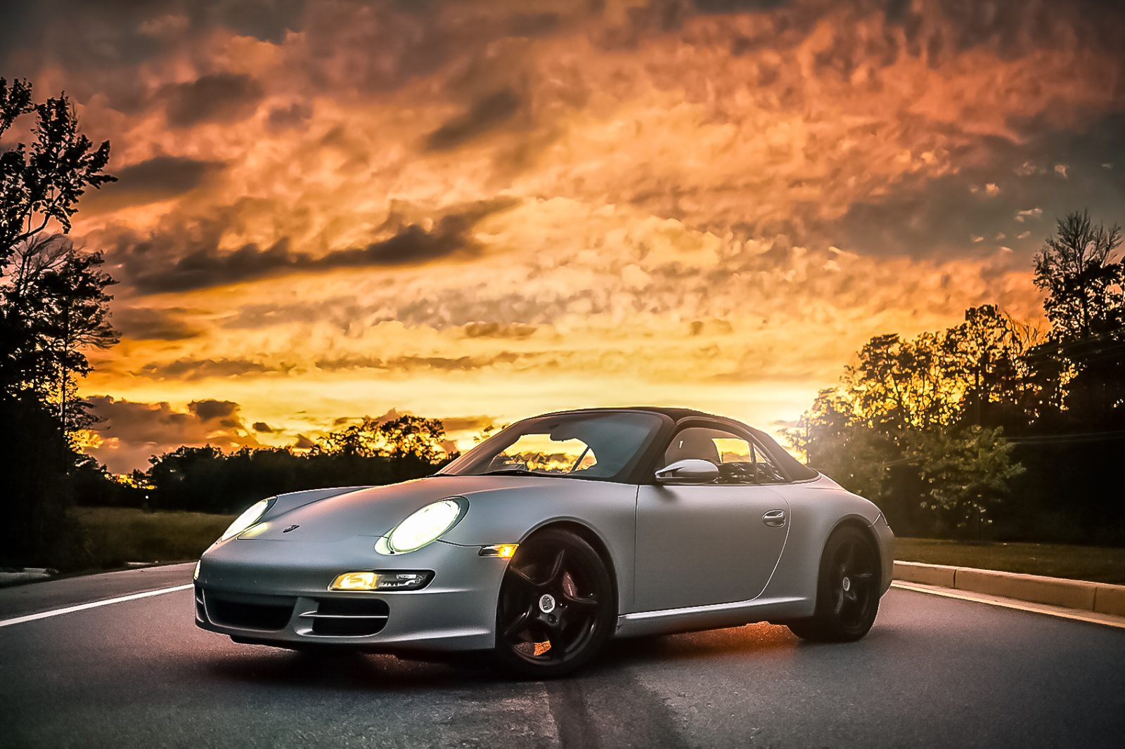 Porsche Sunset1 Edit