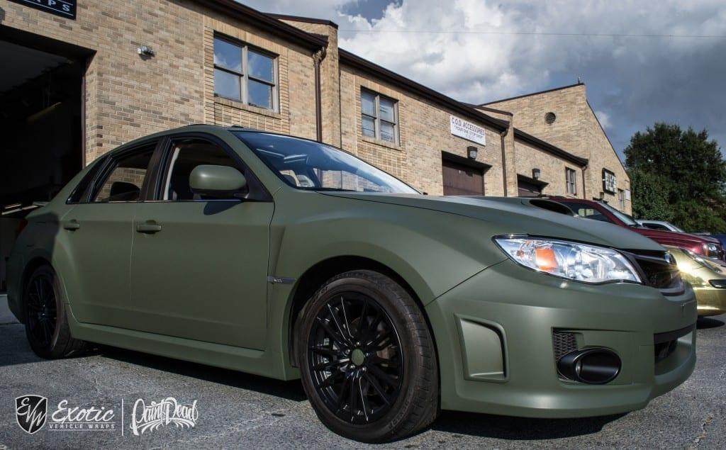 Matte Military Green Subaru Wrx Wm Resize