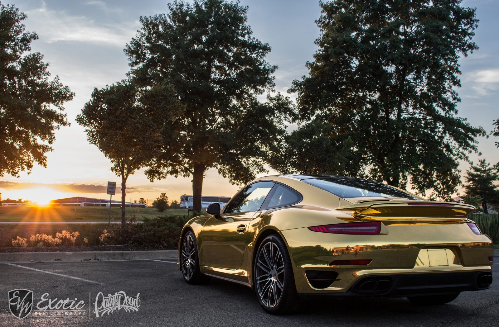 Porsche Turbo S Gold
