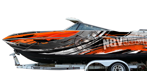 Custom Boat Wrap Graphics
