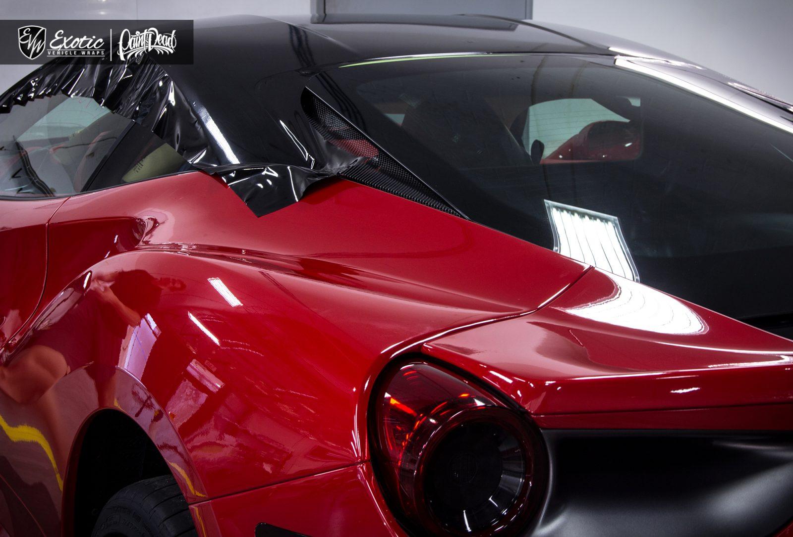 Ferrari 488 Gtb Gloss Black Roof Wrap Process Wm