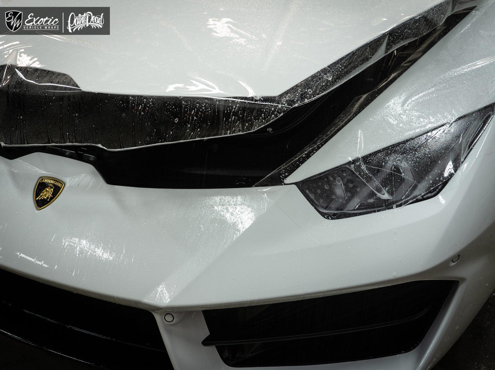 Lamborghini Huracan Full Front End Ppf Roof Side Skirt Gloss Black
